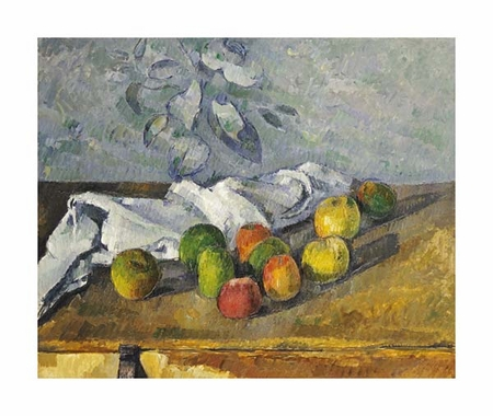 "Paul Cezanne Fine Art Open Edition Giclée:""Apples and a Napkin"""