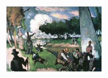 "Paul Cezanne Fine Art Open Edition Giclée:""Fisherman: Sunday Afternoon, July"""