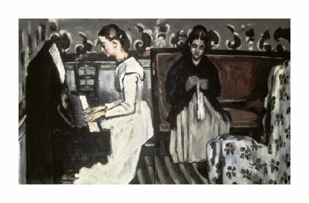"""Paul Cezanne Fine Art Open Edition Giclée:""""Girl at the Piano-the Tannhause Overture"""""""
