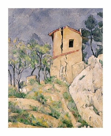 "Paul Cezanne Fine Art Open Edition Giclée:""House with Cracked Wall"""