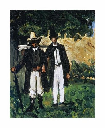 "Paul Cezanne Fine Art Open Edition Giclée:""Marion and Valabregue Posing for a Picture"""