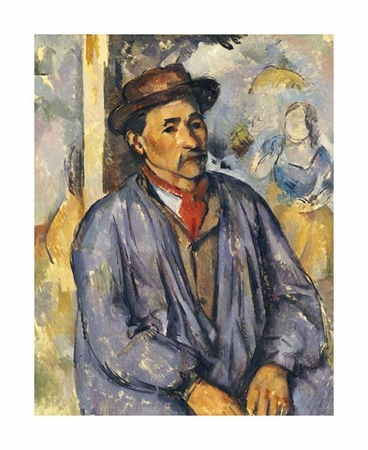 "Paul Cezanne Fine Art Open Edition Giclée:""Peasant in Blue Shirt"""