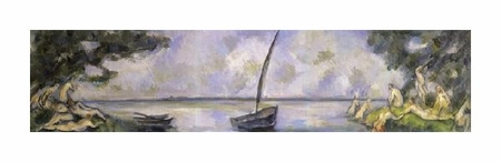 "Paul Cezanne Fine Art Open Edition Giclée:""The Bathers and the Barge"""