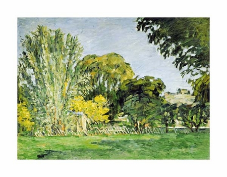 "Paul Cezanne Fine Art Open Edition Giclée:""Trees at Jas de Bouffan"""