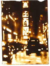 """Paul Chojnowski Signed and Numbered Limited Edition Suite on Giclée with woodblock on Hawk Mountain Peregrine Paper: """"Times Square"""""""