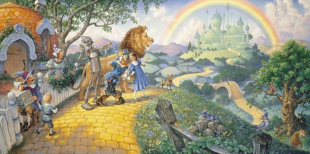 "Scott Gustafson Hand Signed and Numbered Limited Edition Print:""The Wizzard of Oz"""