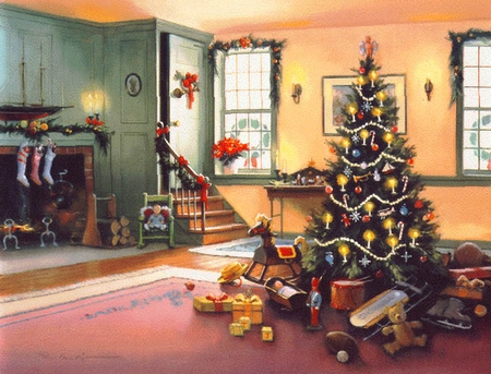 "Paul Landry Limited Edition Print:""A Christmas Morning"""