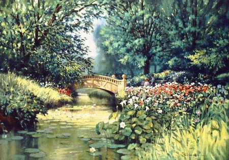 """Paul Landry Limited Edition Print:""""A Place In The Park"""""""