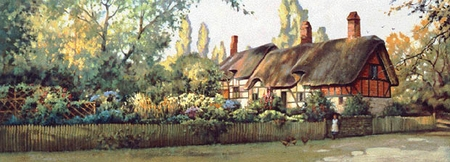 """Paul Landry Limited Edition Print:""""An English Cottage"""""""