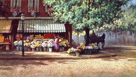 """Paul Landry Limited Edition Print:""""Flowers For Mary Hope"""""""