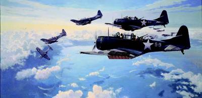 "Paul Rendel Hand Signed and Numbered Limited Edition: ""First Hit at Midway"""
