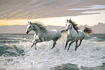 "Persis C. Weirs Limited Edition Print:""Wild Hearts-Horses"""