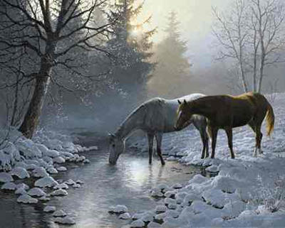 "Persis Clayton Weirs Limited Edition Print: ""Frosting Morning'"""