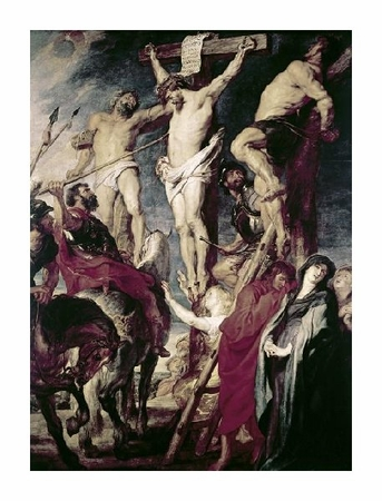 "Peter Paul Rubens Fine Art Open Edition Giclée:""Christ on the Cross Between the Two Thieves"""