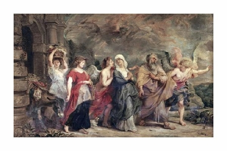 "Peter Paul Rubens Fine Art Open Edition Giclée:""Escape of Lot"""