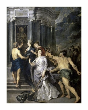 "Peter Paul Rubens Fine Art Open Edition Giclée:""Peace of Angers (Life of Marie de Medici, Queen of France)"""