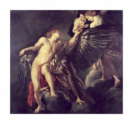 "Peter Paul Rubens Fine Art Open Edition Giclée:""The Rape of Ganymede"""