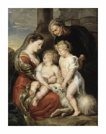 "Peter Paul Rubens Fine Art Open Edition Giclée:""The Virgin and Child with the Infant Saint John the Baptist and Saint Elizabeth"""