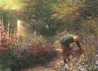"Philip Craig Hand Signed and Numbered Limited Edition Print ""The Gardener"""