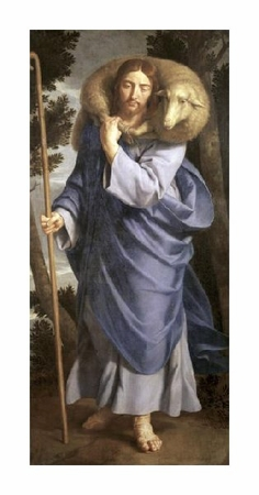"Philippe De Champaigne Fine Art Open Edition Giclée:""Good Shepherd"""