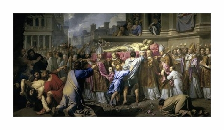 "Philippe De Champaigne Fine Art Open Edition Giclée:""Transferring the Bodies of St. Gervase and St. Protase"""