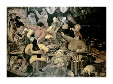 "Pieter Brueghel Fine Art Open Edition Giclée:""The Rich Kitchen"""
