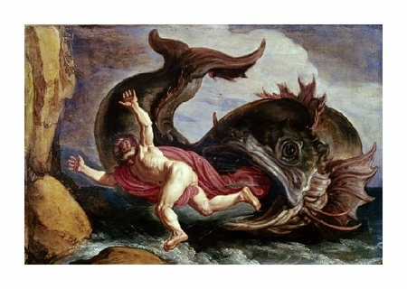 "Pieter Lastman Fine Art Open Edition Giclée:""Jonah and the Whale"""