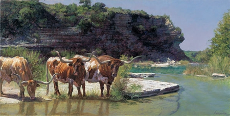 "Ragan Gennusa Hand Signed and Numbered Limited Edition Giclee on Paper and Canvas:""Cold Creek Canyon"""
