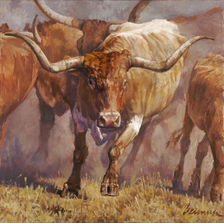 "Ragan Gennusa Hand Signed and Numbered Limited Edition Giclee on Paper and Canvas: ""Tex"""