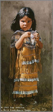 "Ray Swanson Hand Signed and Numbered Limited Edition Print :"" Little Apache """