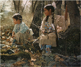 "Ray Swanson Limited Edition Paper Print:""Indian Summer Play"""