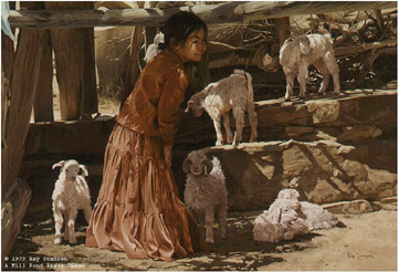 """Ray Swanson Limited Edition Paper Print:""""Playing With The Kids"""""""