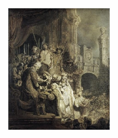 "Rembrandt Van Rijn Fine Art Open Edition Giclée:""Christ Presented to the People"""