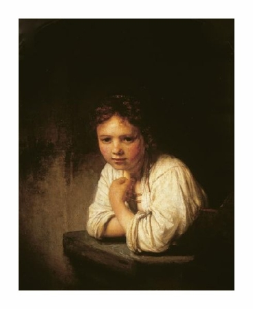 "Rembrandt Van Rijn Fine Art Open Edition Giclée:""Girl at Window"""