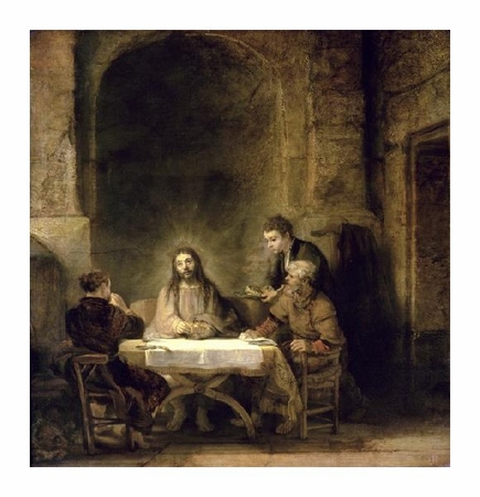 "Rembrandt Van Rijn Fine Art Open Edition Giclée:""Supper at Emmaus"""