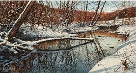 """Richard Bollinger Hand Signed and Numbered Limited Edition Print: """"Valley Creek """""""