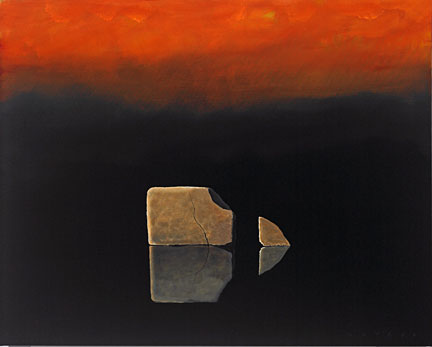 "Robert Deyber Artist Signed Limited Edition Hand-crafted Stone Lithograph:""Another Chip off the Old Block"""