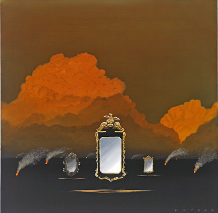"Robert Deyber Artist Signed Limited Edition Hand-crafted Stone Lithograph:""Smoke and Mirrors"""