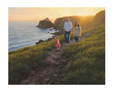 "Robert Duncan Hand Signed and Numbered Limited Edition Canvas Giclee:""Along the Cliffs"""