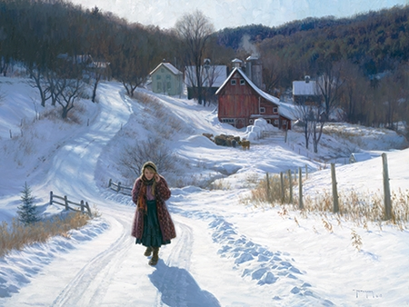 """Robert Duncan Hand Signed and Numbered Limited Edition Canvas Giclee:""""December Sunshine"""""""