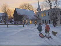"""Robert Duncan Hand Signed and Numbered Limited Edition Canvas Giclee:""""End of a Good Day"""""""