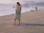 "Robert Duncan Hand Signed and Numbered Limited Edition Canvas Giclee:""Love Letters in the Sand"""