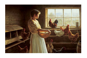 "Robert Duncan Hand Signed and Numbered Limited Edition Canvas Giclee:""The Egg Basket"""