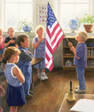 "Robert Duncan Hand Signed and Numbered Limited Edition Canvas Giclee:""The Pledge"""