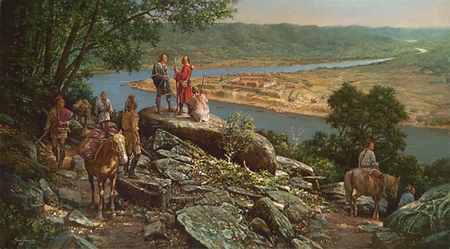 "Robert Griffing Handsigned and Numbered Limited Edition Print: ""On the Trail to Fort Pitt"""