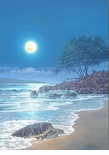 "Rodel Gonzalez Limited Edition Giclee on canvas:""Honu By the Beach"""
