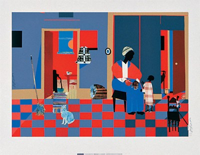 "Romare Bearden Limited Edition Serigraph Ed. 950:""Early Carolina Morning"""