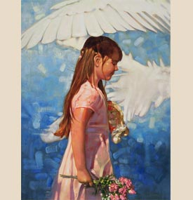 "Ron DiCianni Fine Art 14x18 Canvas Reproduction:""Under His Wings"""