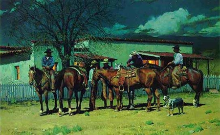 """Ron Riddick Limited Edition Print:""""Early To Bed Early To Ride"""""""