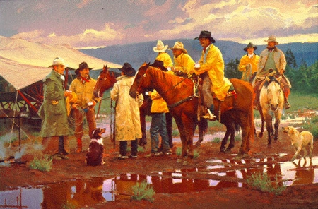 """Ron Riddick Limited Edition Print:""""Muddy Arbuckle Cafe"""""""